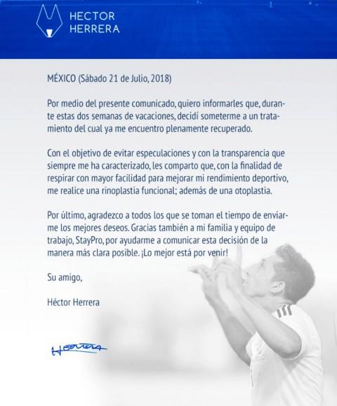 Héctor Herrera, Operación Nariz, Cirugía, Orejas,