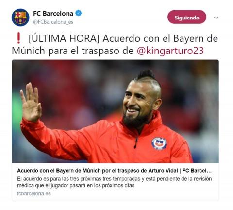 Arturo Vidal, Bayern Múnich, Barcelona, Fichajes,