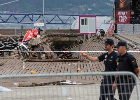 El colapso de un paseo marítimo en España deja 313 heridos