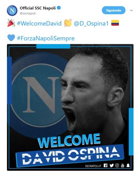 Ospina, Arsenal, Nápoles, Préstamo,