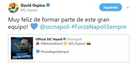Ospina, Twitter, Nápoles, Ochoa,