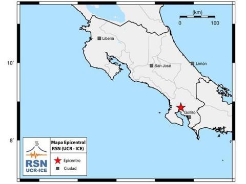 Sismo de magnitud 6.2 sacude el sur de Costa Rica / Foto: RSN