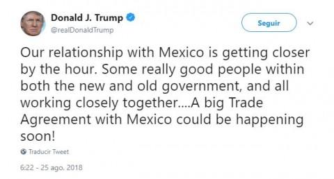 Trump ve cerca un 'gran acuerdo comercial' con México