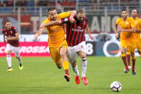 Milán Roma, Gonzalo Higuaín, Serie A, San Siro,