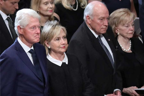 Sin Trump, élite de EU da último adiós a McCain