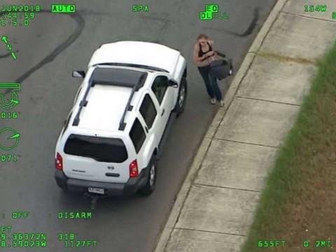 Huye con su bebé de la policía a más de 160 km/h y esto pasó