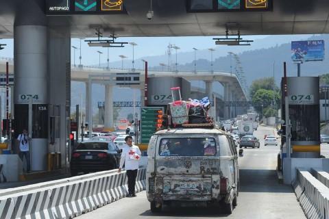 La México-Puebla pasará de 141 a 165 pesos, 24 pesos más, lo que significa un poco más de 17 por ciento. Foto: Cuartoscuro