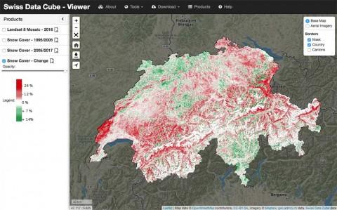 La nieve en Suiza está en desapareciendo