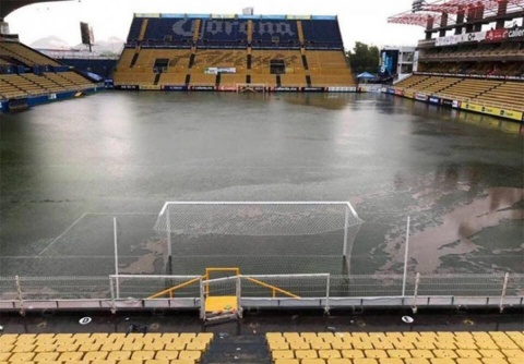 Estadio Sinaloa Cancha Inundada,
