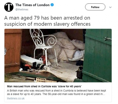 Salvan a hombre esclavizado por más de 40 años