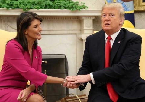 Confirma Trump que Nikki Haley dejará la ONU a fin de año