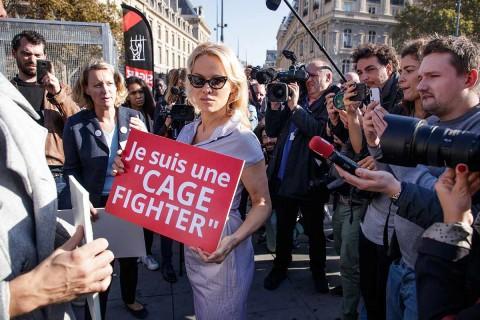 Pamela Anderson se ha convertido en una de las principales activistas por los derechos de los animales. Foto: EFE
