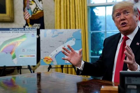 Huracán 'Michael' se ha convertido en un monstruo: Trump
