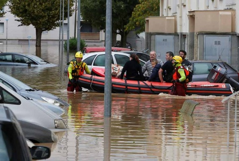 Ya son 13 las víctimas fatales por las inundaciones en Francia