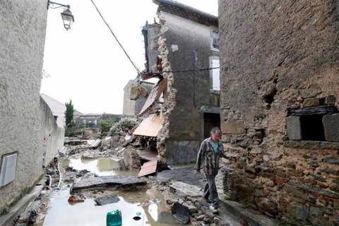 Las inundaciones en el sur de Francia causan 13 muertos