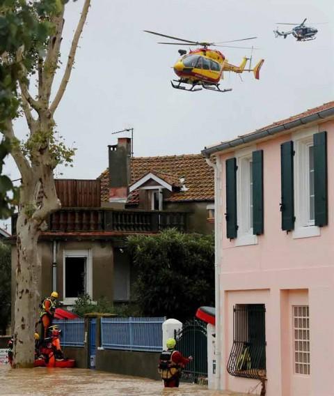 Lluvias sorprenden a Francia; al menos 13 muertos