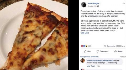 Un viaje de casi 400 km para entregar pizza a enfermo de cáncer