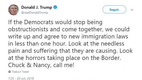 Ofrece Trump nuevas leyes migratorias 'en menos de una hora'
