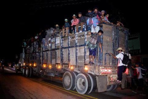 Migrantes centroamericanos van a la Ciudad de México