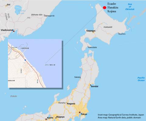 japanese islet map