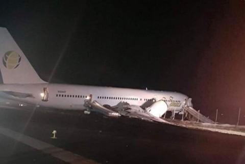 Aterrizaje de emergencia en aeropuerto de Guyana deja seis heridos