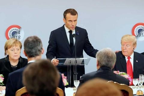 Macron lanza indirecta a Trump, en su cara: fustiga el nacionalismo