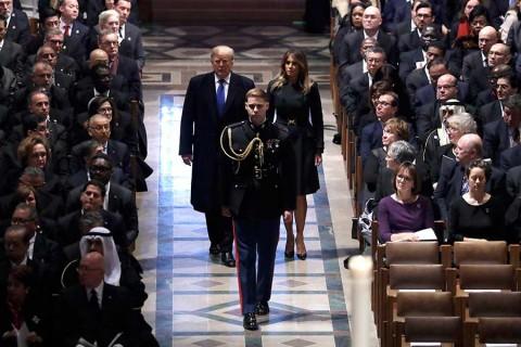 Estados Unidos despide con máximos honores a expresidente George H.W. Bush