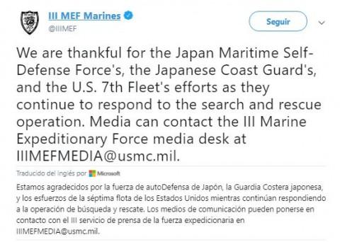 Dos aviones de los Marines de Estados Unidos chocaron en el aire