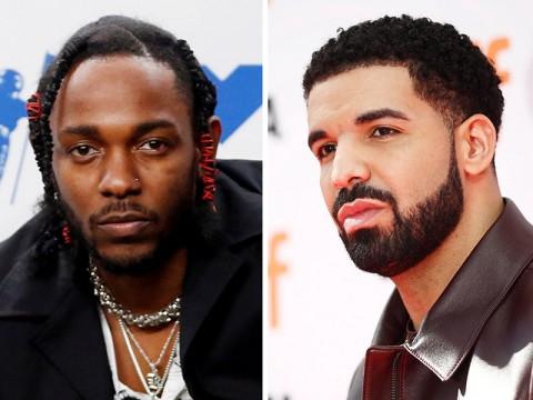 Los raperos Kendrick Lamar y Drake. Foto: Reuters