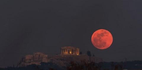 La superluna roja del lobo que podrás ver en enero