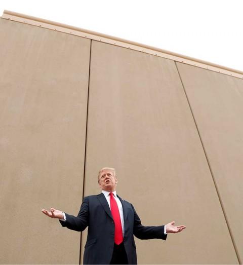 Promoverá Trump su muro fronterizo en horario estelar en Estados Unidos
