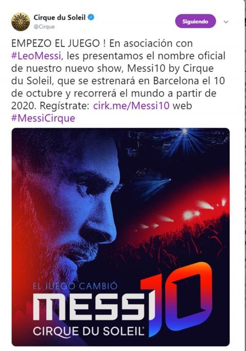 Messi Cirque Soleil unen magia, Messi 10 Cirque Soleil, Cirque Soleil, Matías Loizaga, Circo Messi, Leo Messi, Barcelona, Circo Futbol, Show, Noticias, Adrenalina, Excélsior,