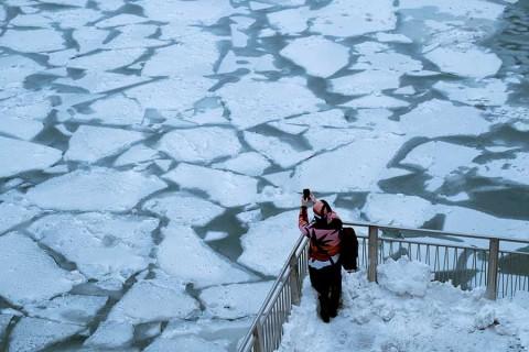 Así se congela EU a causa de una ola polar