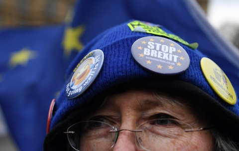 Manifestantes del Brexit