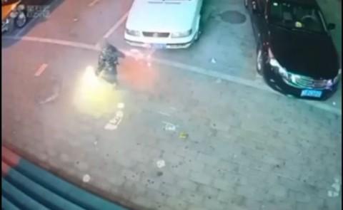 Explosión por fuegos artificiales