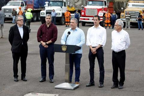 Juan Guaidó pone en marcha caravana con ayuda desde Colombia