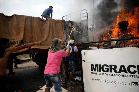 Opositor causó incendio de ayuda humanitaria para Venezuela, revela análisis