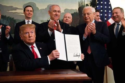 Reconoce Estados Unidos oficialmente soberanía de Israel sobre Altos del Golán