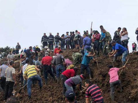 Alud deja al menos 11 muertos en Colombia