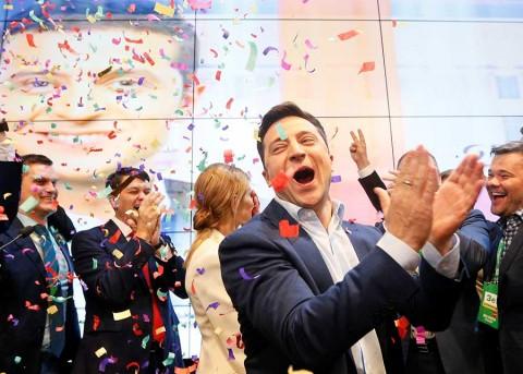 Un comediante se perfila como nuevo presidente de Ucrania