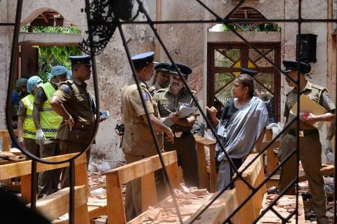 Presumen que hay al menos 27 extranjeros muertos en Sri Lanka