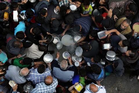 Mitad de población de Gaza podría quedarse sin comida: ONU