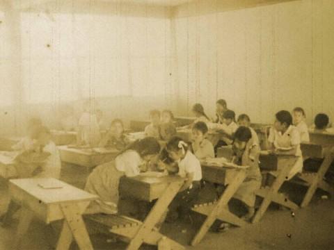 alumnos de una escuela rural