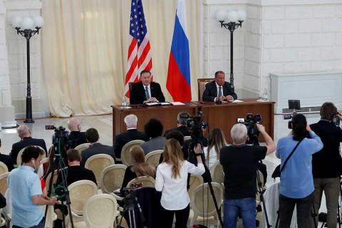 En Rusia, Pompeo exige la salida de Nicolás Maduro