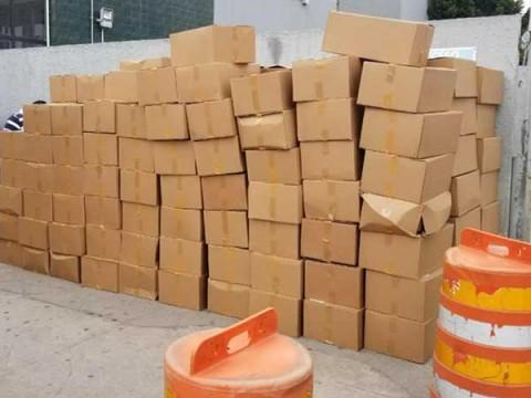 Lo asegurado fue puesto a disposición del Ministerio Público Federal. Foto: Especial