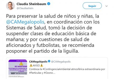Sheinbaum recomienda suspender la liguilla