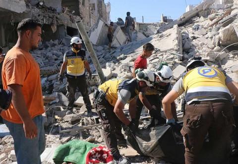 Bombardeo de Rusia contra mercado en Siria
