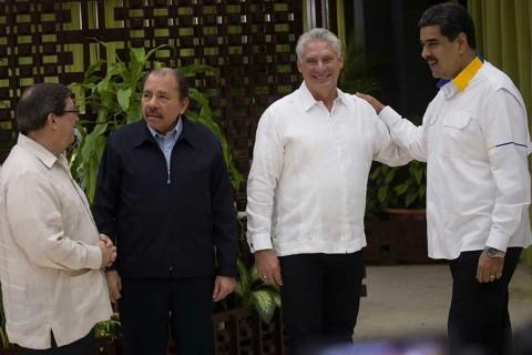 Cuba recibe a Maduro, Ortega y otros líderes del ALBA