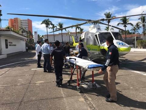 Traslado de los menores en helicóptero