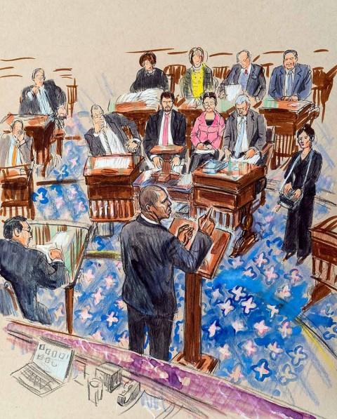 Demócratas cierran acusación e inicia turno de defensa en juicio a Trump